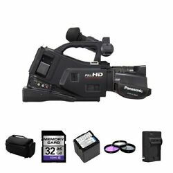 Panasonic AG AC7 Camcorder + 2 Batteries Charger 32GB Filters Case