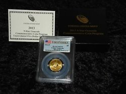 Pcgs Ms70 First Strike 2013 Five Star Generals Uncirculated 5 Gold Coin Sg2