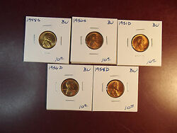 Upick One Penny, Dates Range From 1948 - 1958 All Bu Lincoln Wheat Cents, 1
