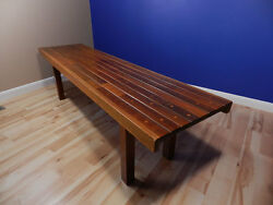 Rare Vintage Mid Century Modern Bench Table Made Of Antique Organ Wood Parts