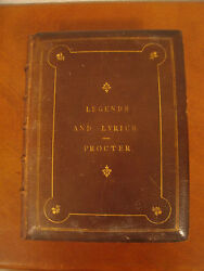 Antique 1866 Legends And Lyrics By Adelaide Anne Procter Intro Charles Dickens