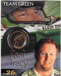 Paul Tracy 2001 Team Green Cart Racing Promotional Picture Signature Card 26