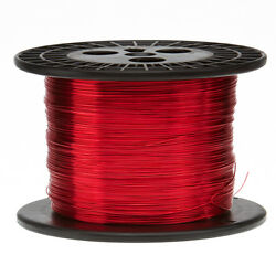 16 Awg Gauge Enameled Copper Magnet Wire 5.0 Lbs 631' Length 0.0520 155c Red