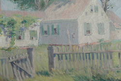 New Hope School Painting Oil On Canvas Landscape Unsigned Early 20th C.