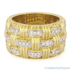 0.35ct Round Diamond Right-hand Heavy Fashion Band 14k Yellow And White Gold Ring