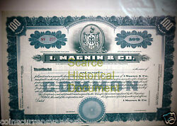 I. Magnin And Co Circa 1876 Scarce Historical Document ..mary Ann Magnin Founded..