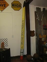 Vintage Folk Art Trade Sign Wooden Carved Pencil Shipping Available