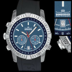 Bombardier Watch Bb4-56 Collector's Dream 36th Watch Made Left Hand Wind