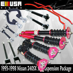 240sx S14 Suspension Toe Arm /tension Rod/traction Rod/ Adj. Coilover /swaybar