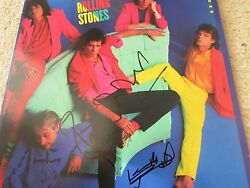 Keith Richards And Ronnie Wood Signed Lp Proof + Coa Rolling Stones 50 Rare