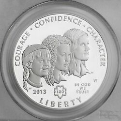 2013-w 1 Girl Scouts Of The Usa Centennial Proof Silver Dollar Pcgs Pr 69 Dcam