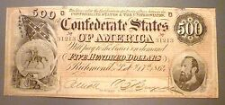 T-64 Popular 1864 500 Confederate Issue Stonewall Jackson Uncirculated
