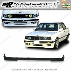 For 84 92 BMW E30 3 Series IS Style Lower VALANCE FRONT Bumper Lip Spoiler