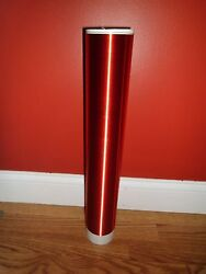 Red Tesla Coil Secondary 26awg 6 To 30 Wound On 3.5 Inch Outer Diameter Pvc