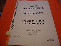 Drawer 10 Woods Mow'n Machines 770 771 Transmissions Service Manual