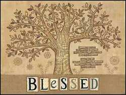 Art Print, Framed Or Plaque By Annie Lapoint - Blessed Tree Of Life - Alp1100