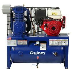 Quincy Qt 13-hp 30-gallon Two-stage Truck Mount Air Compressor W/ Electric St...