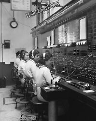 Photograph Old Time Vintage Telephone Switchboard  Operators  Year 1921c   8x10