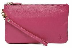 Mighty Purse Poppy Pink Genuine Leather 4000mAh Phone Charger By HButler