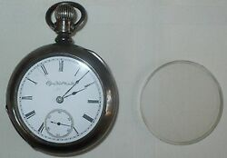Antique 1890 Elgin Coin Silver Pocket Watch 11 Jewels , 18 Size , 6.7 Ounces