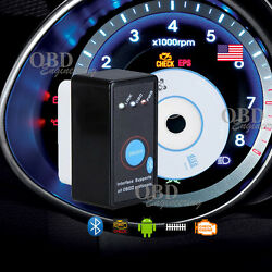 Mini Blk Obd 2 Bluetooth Car Diagnostic Scanner Code Reader With Power Switch