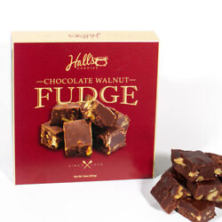 Hall#x27;s Chocolate Walnut Fudge 1 Pound