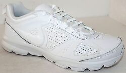 Nike T-lite Xi 616544-102 White Leather Mens Casual Athletic Shoe Nwd Size 6 -15