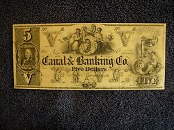 Canal And Banking Co, New Orleans 5 Bank Note Unissued - Crisp Note - Read -