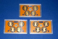 2011 2012 And 2013 S Proof Presidential Dollar Set- 3 Sets-12 Coins-no Box/coa