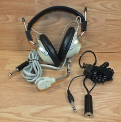 Aircom Hsd Aviation Headphones W/ Boom Microphone And Pushbutton Activation Switch