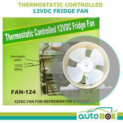 Caravan 12v Cooling Fridge Fan Thermostatic Switch Camping Home Boat Motorhome