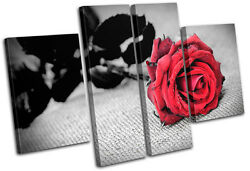 Roses Flowers Love Floral Multi Canvas Wall Art Picture Print Va