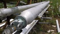 11 Foot 7 Inch Sailboat Boom 4.5 Round Stock With 3/4 Sail Track Fico End Cap