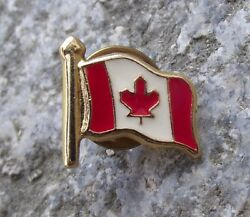 Canada Maple Leaf National Canadian Flag Official Tie Pin Brooch Pin Badge