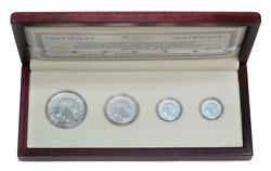 Poland Set 4 Coins Womans Head Ag Limited Edition Only 500pcs