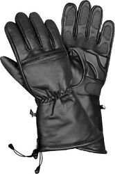 Men's Cold Weather Waterproof Gauntlet Glove W/ Gel Pam And Draw Tight String
