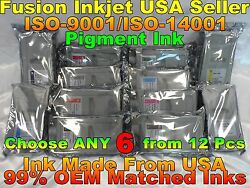 Any 6 Cartridges Fit Canon Imageprograf Ipf 8400 9400s Pfi 706 Ink Not Oem Thw
