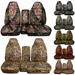 Designcovers Seat Covers 60-40 Hi Back Fit S10/colorado And Console Cover / Camo