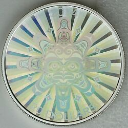 2014 20 Interconnections Air - The Thunderbird 1 Oz Pure Silver Hologram Coin