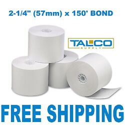 2-1/4 X 150and039 Bond Calculator Paper - 24 Rolls Fast Free Shipping