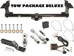 Trailer Hitch For 11-16 Honda Odyssey Pkg Deluxe W/ Wiring And Hitch Locks + Cover