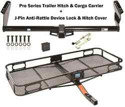TRAILER TOW HITCH 04-20 TOYOTA SIENNA + CARGO BASKET CARRIER + SILENT HITCH PIN