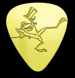 Michigan J Frog - Solid Brass Guitar Pick Acoustic Electric Bass