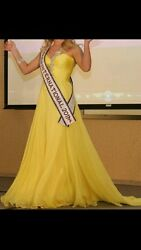 Sherri Hill Beaded Crystal Prom Pageant Gala Size 0/2 Yellow Retail 2800 Offers