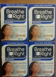 120 Breathe Right Nasal Strips Large Tan New In Factory Sealed Boxes W.w Ship