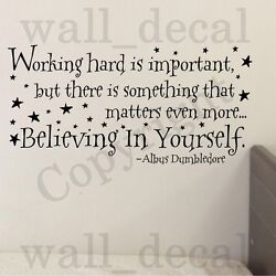 Working Hard Is Important Vinyl Wall Decal Sticker Quote Harry Potter Dumbledore