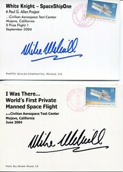 Mike Melvill Lot Of 2 Hand Signed Color Postcards  Spaceship One Pilot