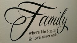 Family Wall Decal 28x14in