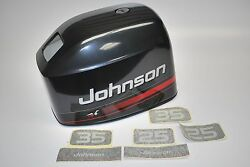 New Johnson Outboard Motor Hood 25-25hp Rope Start Cover 5000750 Charcoal