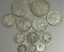 6 Oz Lot 90 Silver All 20th Century Types And Denominations+morgan+peace++more